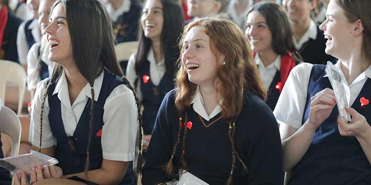 happy students at St Hildas Gold Coast