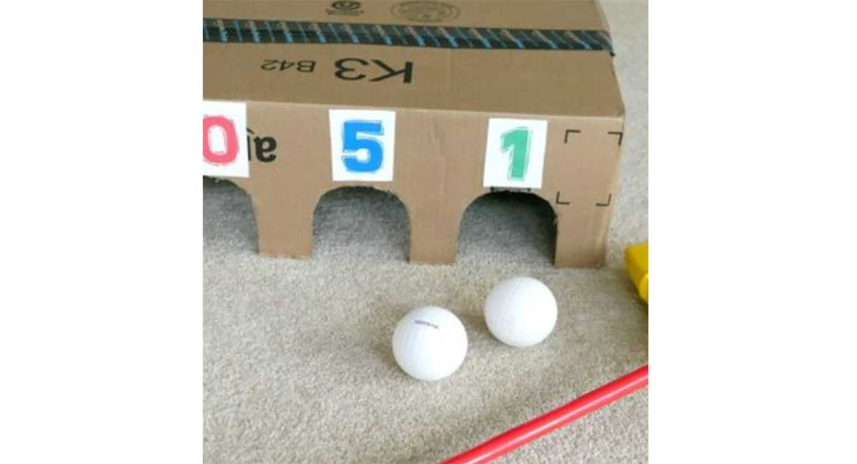 keep-kids-entertained-cardboard-golf