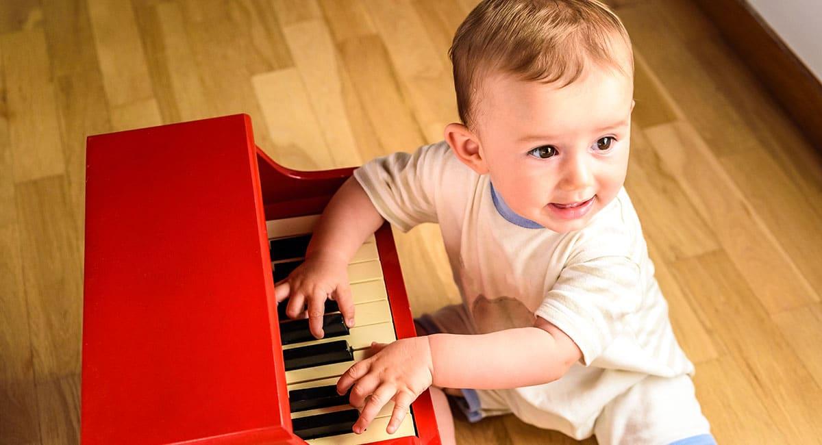 baby enjoying music lessons