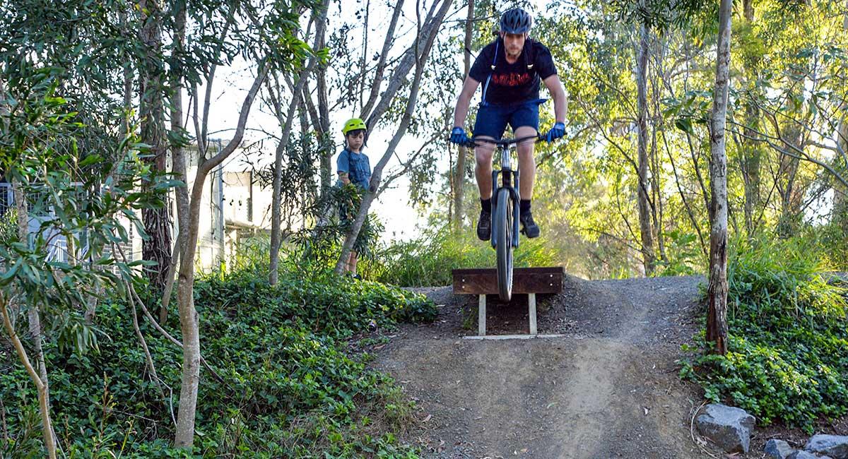 Family at Tudor Park Mountain Bike Track