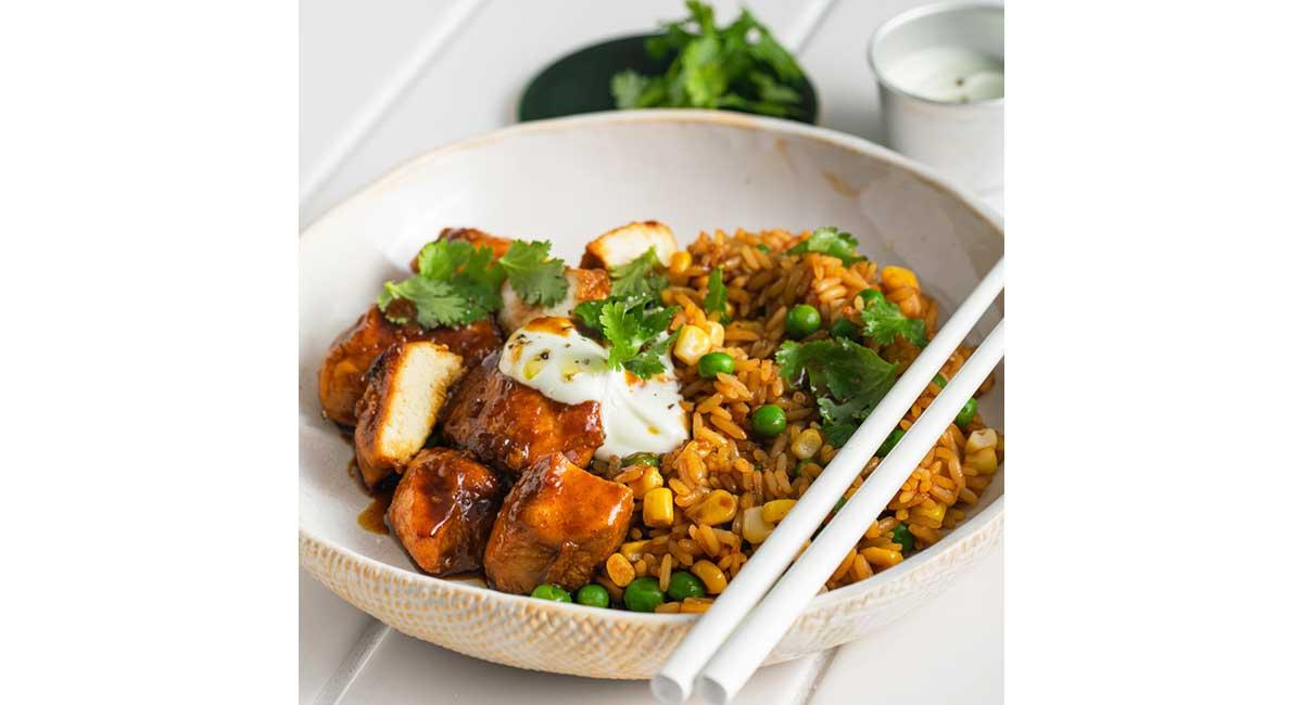 Youfoodz teriyaki chicken with fried rice
