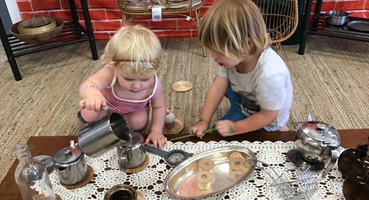 children using authentic resources