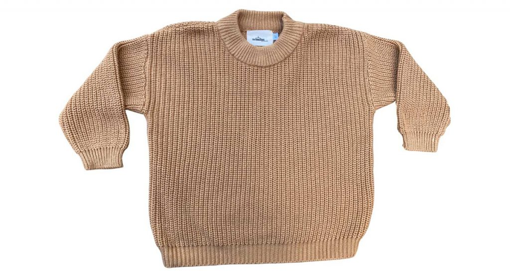 MLW-chunky knit in cinnamon