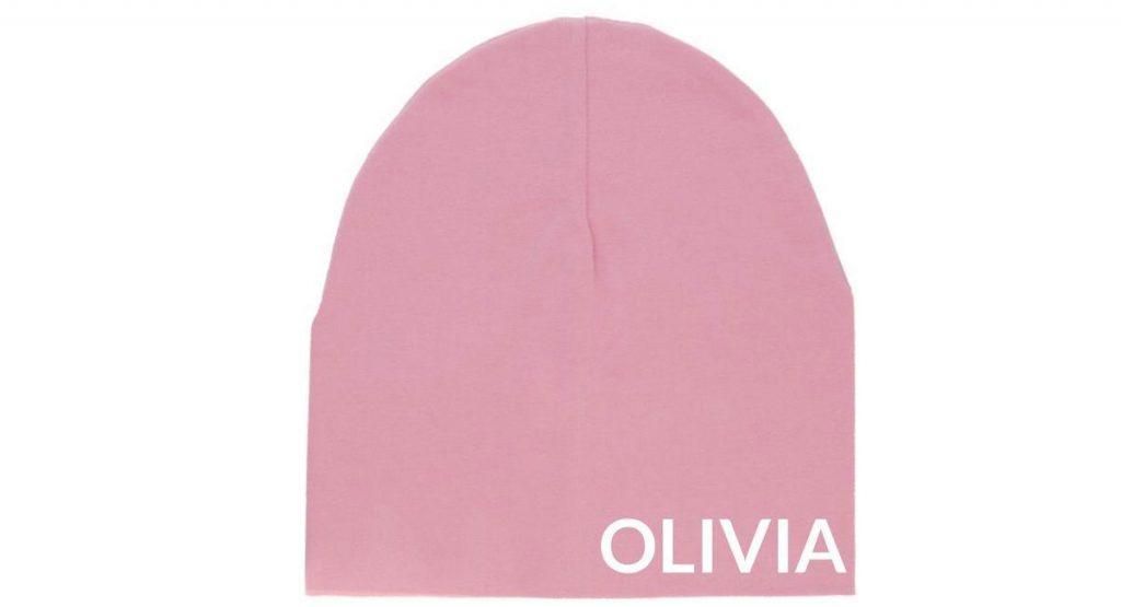 personalised beanie kids winter wardrobe