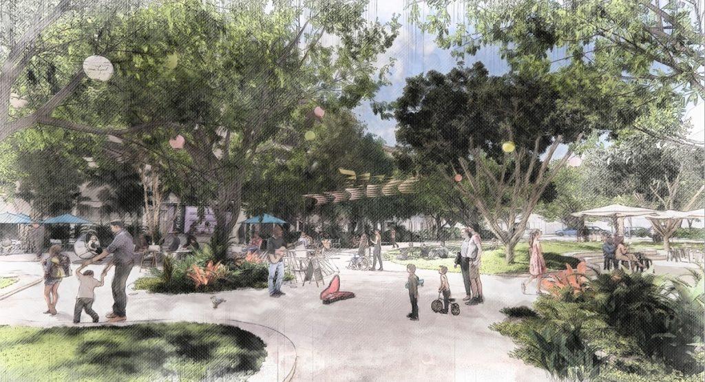 Artist's impressions of new Caloundra hub looking north