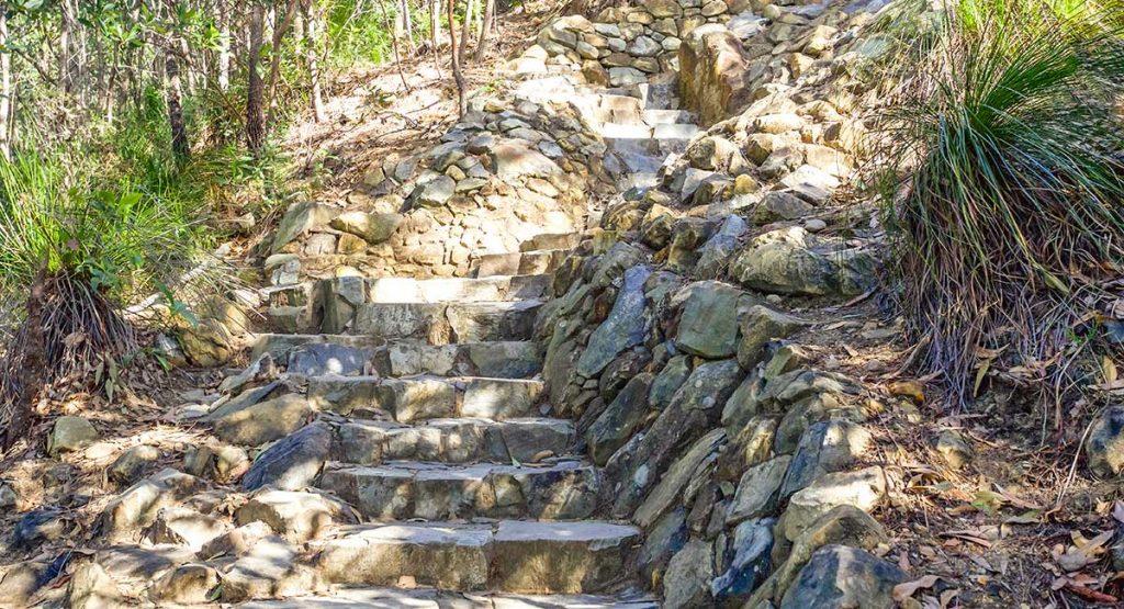 Steps on Mount Coolum