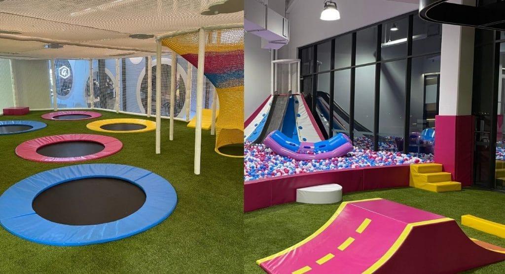 Inside miniBounce playground