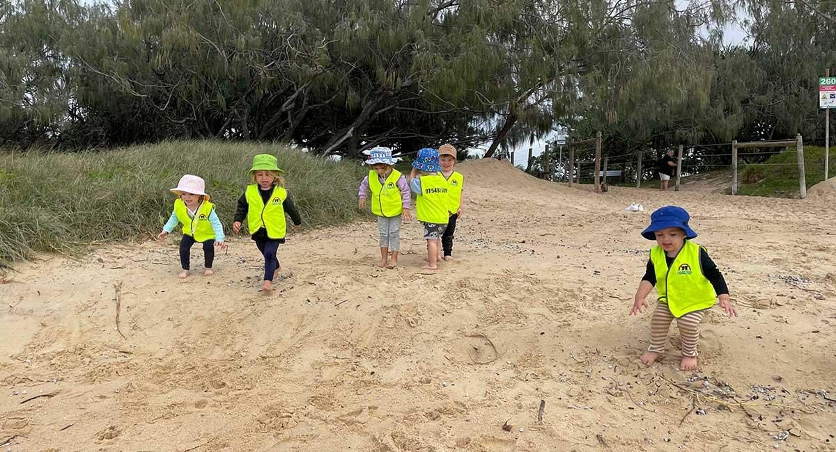 Currimundi beach kindy kids